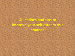 How to improve your self esteem as a student
