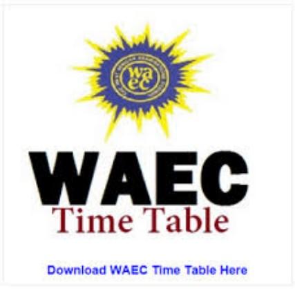 Waec Gce 2019 timetable pdf free